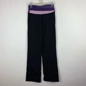 Lululemon Black Purple Wide Leg Pants